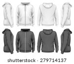 men hooded sweatshirt  front ... | Shutterstock .eps vector #279714137