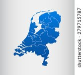 map of netherlands | Shutterstock .eps vector #279715787