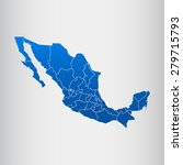 map of mexico | Shutterstock .eps vector #279715793