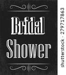 retro bridal shower ... | Shutterstock .eps vector #279717863