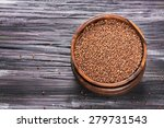buckwheat groats in a bowl and... | Shutterstock . vector #279731543