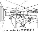 outline sketch drawing... | Shutterstock .eps vector #279743417