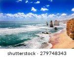twelve apostles and orange... | Shutterstock . vector #279748343