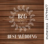 best wedding label with floral... | Shutterstock .eps vector #279794477