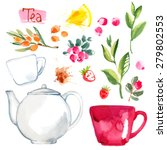 Tea Painted With Watercolors O...