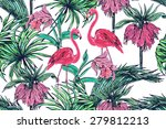 beautiful seamless vector...   Shutterstock .eps vector #279812213