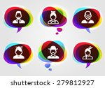 people face set on  color... | Shutterstock .eps vector #279812927