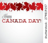 leaf line canada day card in... | Shutterstock .eps vector #279819257