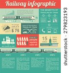 railway infographic. set... | Shutterstock .eps vector #279823193