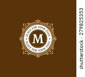 simple and elegant monogram...   Shutterstock .eps vector #279825353