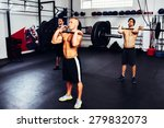 group of men training with... | Shutterstock . vector #279832073