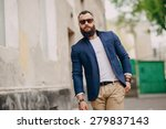 fashion brard man  outdors | Shutterstock . vector #279837143