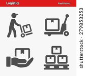 logistics icons. professional ... | Shutterstock .eps vector #279853253