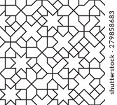 seamless girih geometric... | Shutterstock .eps vector #279858683