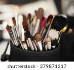 closeup of makeup tools in... | Shutterstock . vector #279871217