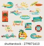 summer typographical elements... | Shutterstock .eps vector #279871613