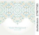 vector ornate seamless border... | Shutterstock .eps vector #279877583