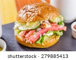 Burger With Crab Meat
