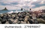 a storm on the sea near catania ... | Shutterstock . vector #279898847