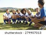 Group Of Children In Soccer...