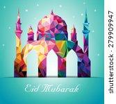eid mubarak colorful mosaic... | Shutterstock .eps vector #279909947