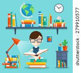 read books concept. education... | Shutterstock .eps vector #279910577
