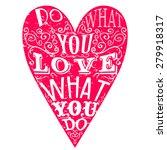 typographic vector heart with... | Shutterstock .eps vector #279918317