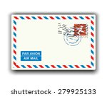 air mail with stamp and... | Shutterstock .eps vector #279925133