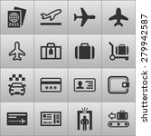 airport icons for web | Shutterstock .eps vector #279942587