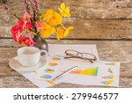 business chart and financial