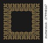 gold frame in the trendy mono... | Shutterstock . vector #279948167