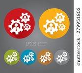 vector   circle businessman ... | Shutterstock .eps vector #279951803
