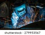 industrial steel welder in... | Shutterstock . vector #279953567