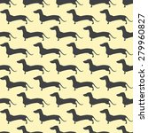 seamless pattern with repeating ... | Shutterstock .eps vector #279960827