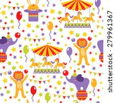 seamless pattern with cute... | Shutterstock .eps vector #279961367