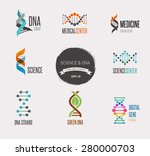 dna  genetic sign  elements and ... | Shutterstock .eps vector #280000703