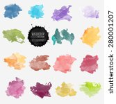 vector watercolor background.... | Shutterstock .eps vector #280001207