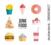 junk food icon design. flat... | Shutterstock .eps vector #280003817