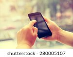 Young Woman Hands Use Cellphon...