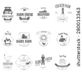 farm fresh products badge set... | Shutterstock .eps vector #280013363