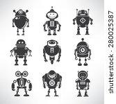 vector robot icons | Shutterstock .eps vector #280025387