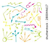 hand drawn vector arrows set...   Shutterstock .eps vector #280044617