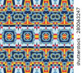 tribal psychedelic seamless... | Shutterstock .eps vector #280063247