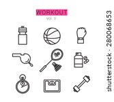 workout icons set for web and... | Shutterstock .eps vector #280068653