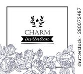 charm collection. vintage... | Shutterstock .eps vector #280072487