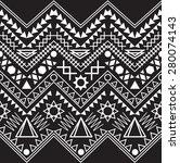 collection black white tribal... | Shutterstock .eps vector #280074143