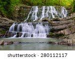 a large waterfall on the snake... | Shutterstock . vector #280112117