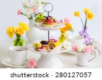Assorted Cakes And Pastries On...