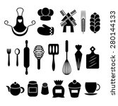 baking kitchen tools... | Shutterstock .eps vector #280144133