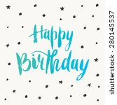 happy birthday greeting card.... | Shutterstock .eps vector #280145537